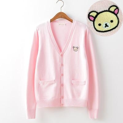 Little Bear Embroidered Cardigan - Tokyo Dreams