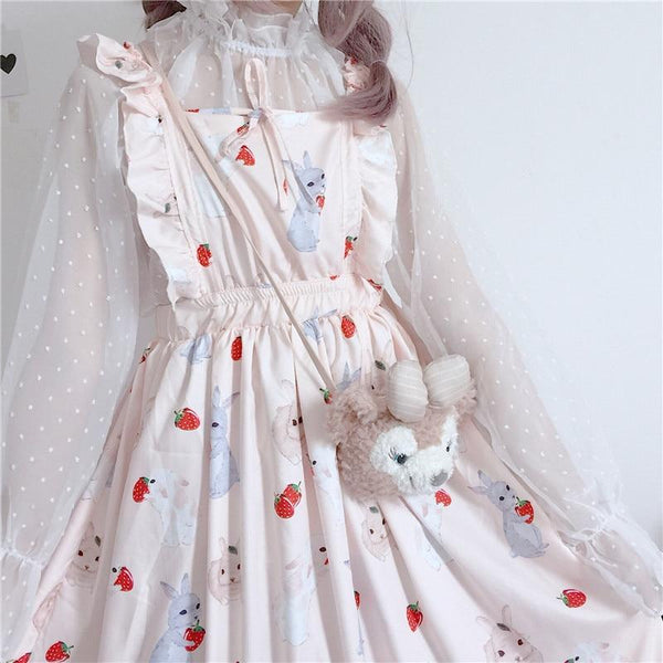 Strawberry Bunny Kawaii Dress