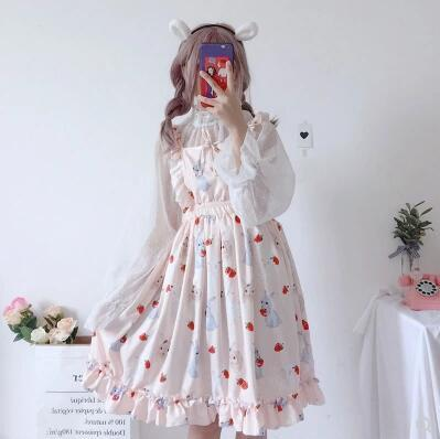 Strawberry Bunny Summer Dress - Tokyo Dreams