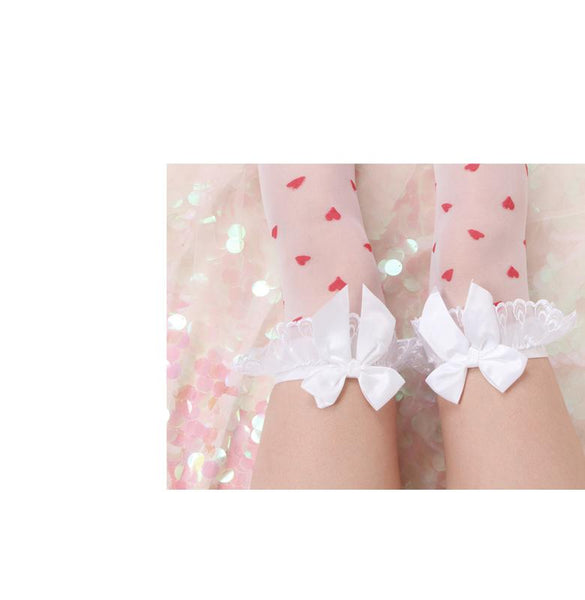 Lovely Lace Heart Stockings - Tokyo Dreams