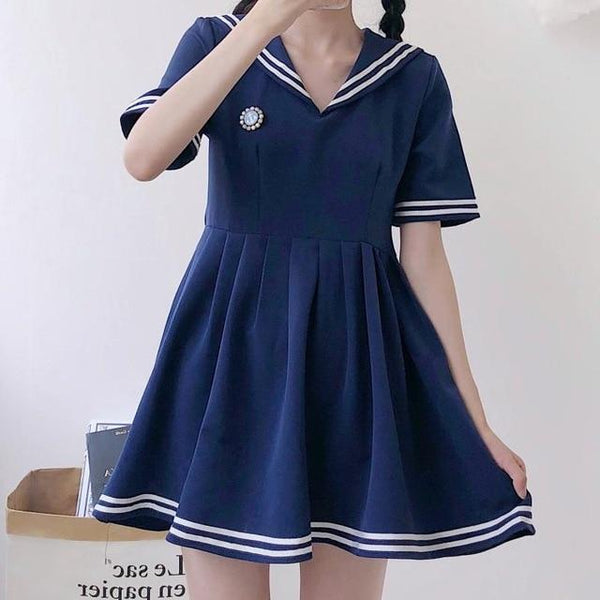 Japanese Anime Sailor Kawaii Dress - Tokyo Dreams