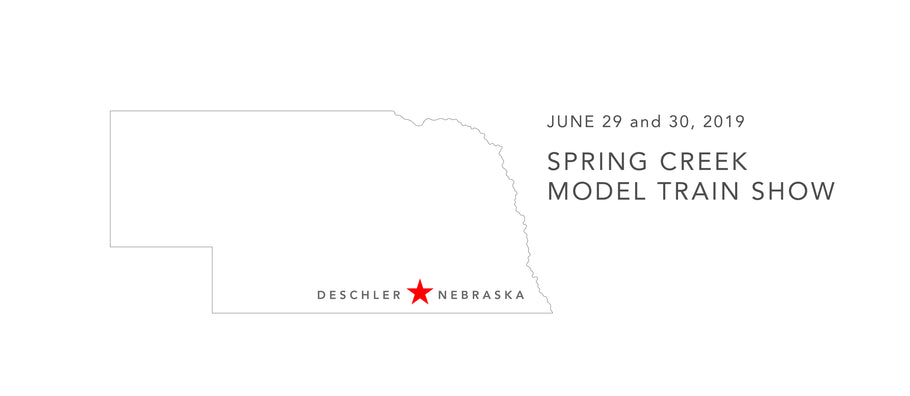 This weekend! Arrowhead Models to attend the Spring Creek Train Show in Deschler, NE