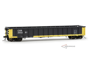 "Chicago & North Western (CNW) #350291 Greenville 2494 ""Railgon"" Gondola (available now, but only through Arrowhead Dealers. Click on image for a dealer list.)"