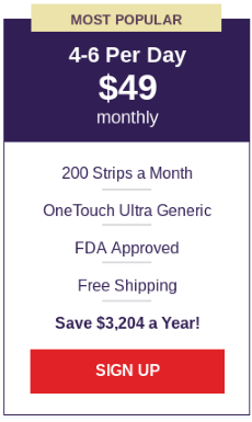 OneTouch Ultra Generic Test Strips - Large Plan
