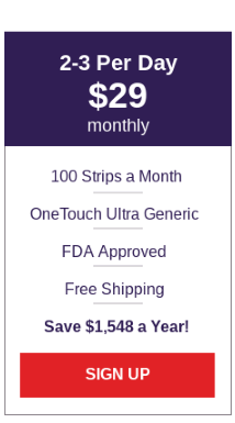 OneTouch Ultra Generic Test Strips - Medium Plan