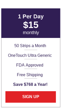 OneTouch Ultra Generic Test Strips - Small Plan