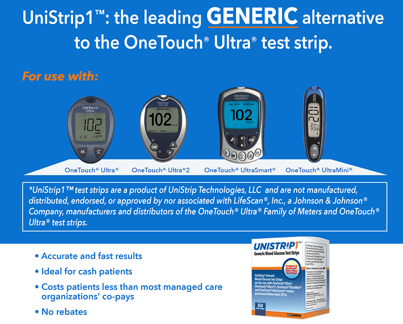 UniStrip - OneTouch Ultra Generic Test Strips