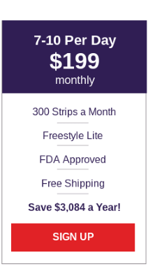 Freestyle Lite Test Strips - Extra Large Plan
