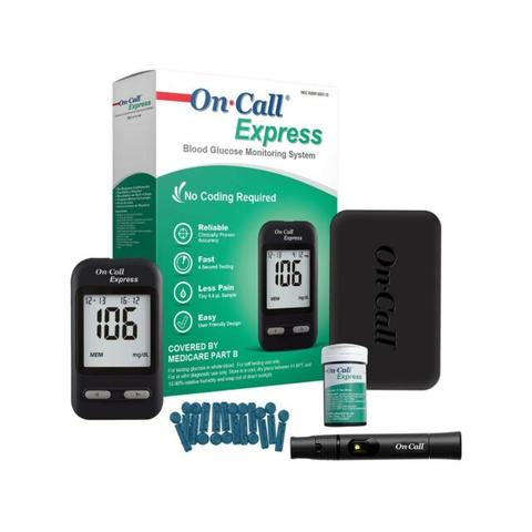 100 On-Call Express Test Strips + Free Kit