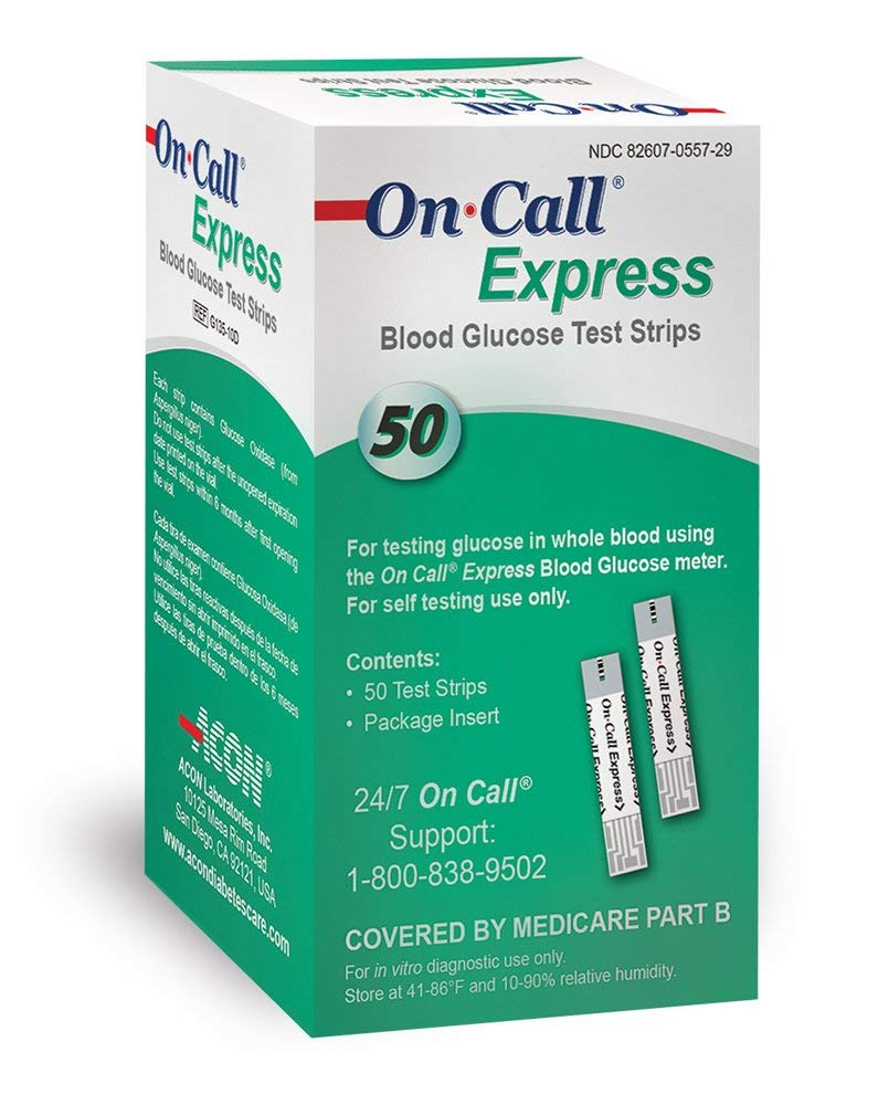 1 Per Day (50 On-Call Express strips) + Free Kit
