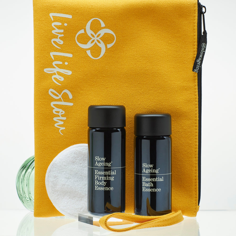 Beautiful Body Collection. Complimentary Slow Wash Bag & reusable facial round, Value £12