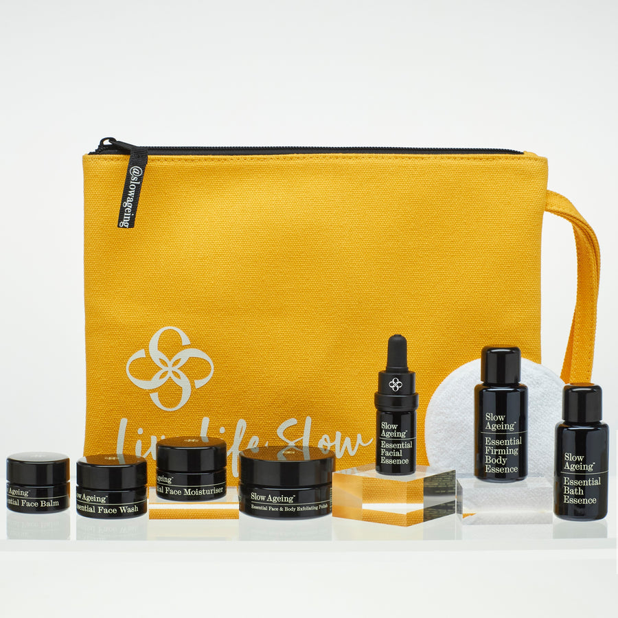 Face & Body Discovery Collection. A Full Top to Toe Routine in Handy Travel Sizes. Perfect 'Try Me' Set or For a Short Break.