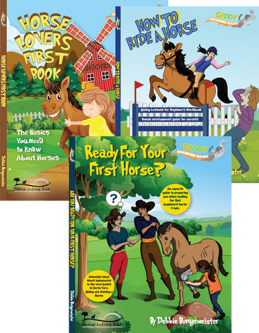 Giddy Up Beginner Books 1, 2, 3 - Buy all 3 and save 30% with the basics of horses, learning to ride and getting ready to buy your first horse