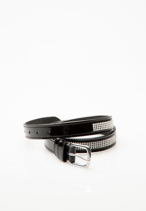 Diamond Patent Leather Belt