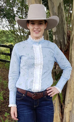 LADIES FINE FRILL SHIRT