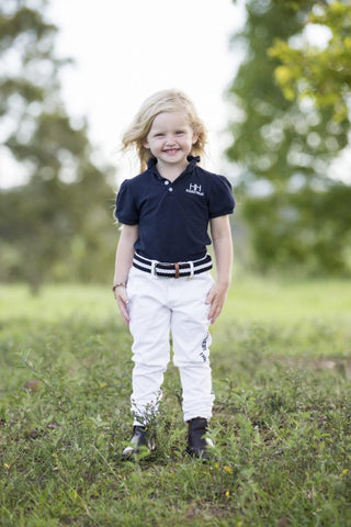 KIDS HH EQUESTRIAN POLO SHIRT  – GIRLS