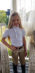 GIRLS SHORT SLEEVE FRILL SHOW SHIRT