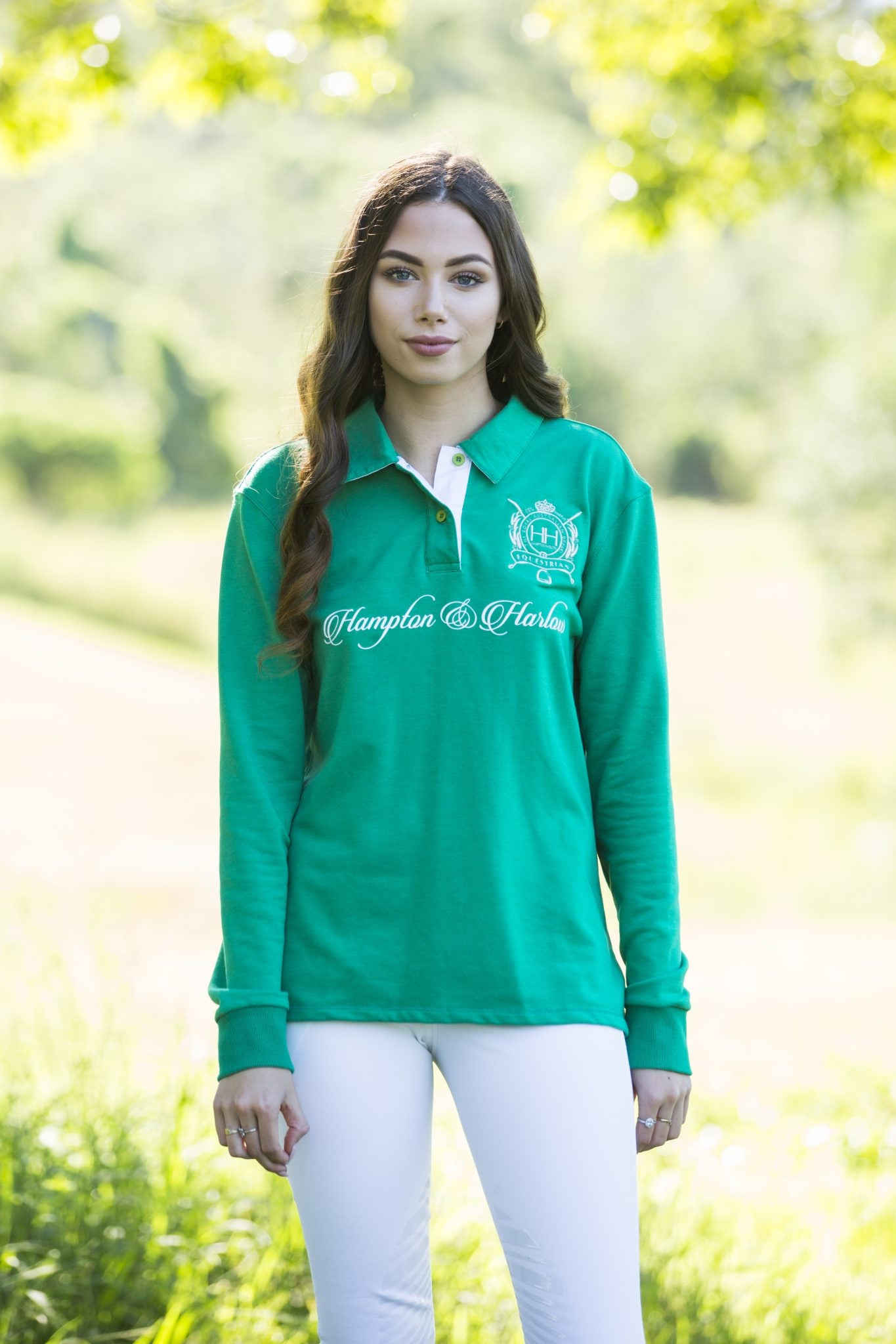 LADIES FRENCH TERRY JERSEY GREEN