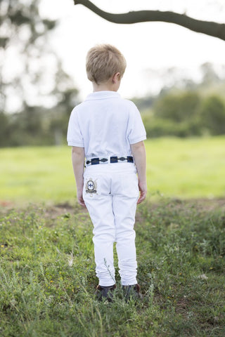 Kids white Polo/ Polocrosse Jeans