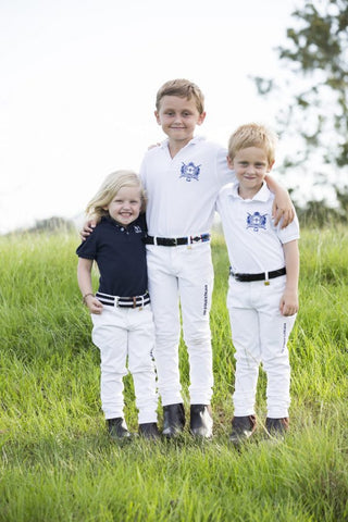 Kids White Polocrosse Jeans used once