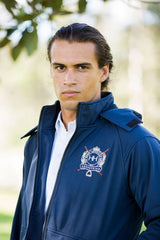 MEN'S NAVY RAIN JACKET
