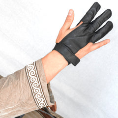 Leather 3 Finger Archery Glove