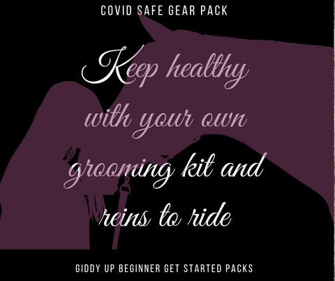 COVID SAFE GEAR PACK with reins and grooming kit