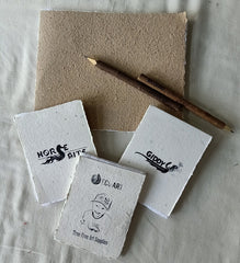 Horsey Notepad / Sketchbook 10x15cm with bonus bookmark and neem pencil