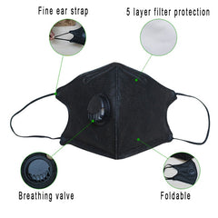 1PC anti dust mouth mask Activated carbon filter, Windproof, Bacteria proof, Flu Face Care