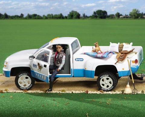 BREYER TRADITIONAL DUALLY TRUCK WHITE/BLUE