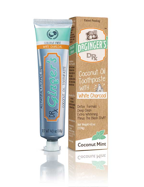 Fluoride-Free Coconut Oil Toothpaste With White Charcoal