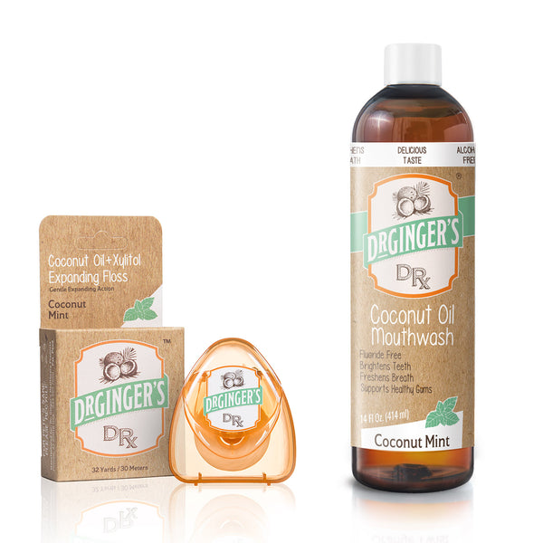 Dr. Ginger's Expanding Floss + Coconut Oil Mouthwash