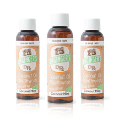 Triple Pack of Travel Sized Coconut Oil Mouthwash Product Image - Fluoride Free, Brightens Teeth, Freshens Breath, and Supports Healthy Gums