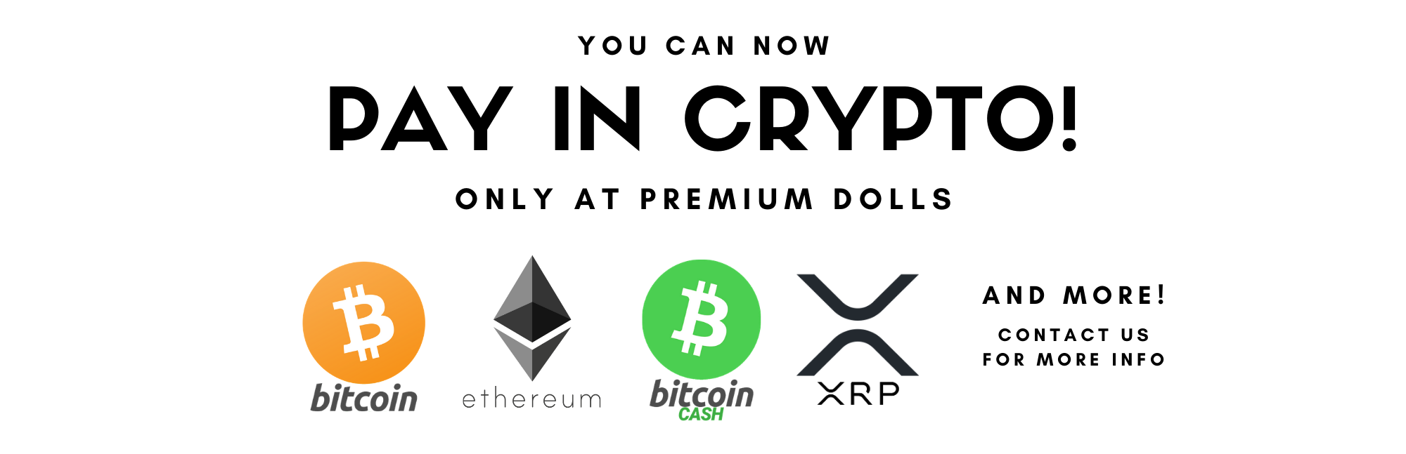 Pay in Crypto at Premium Dolls