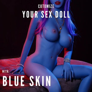 Blue Skin for Sex Dolls from Premium Dolls