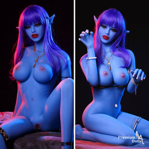 Mystique - Ultra realistic Blue Skin Sex doll Full TPE from Premium Dolls