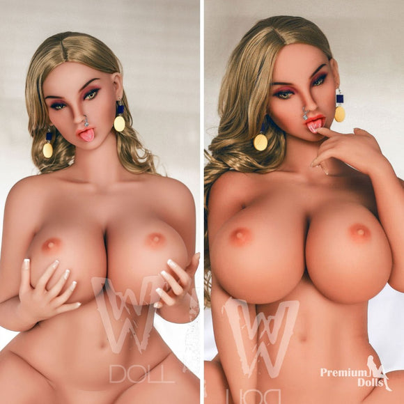 Sienna- Blond Sex Doll with tongue and smooth skin from Premium Dolls