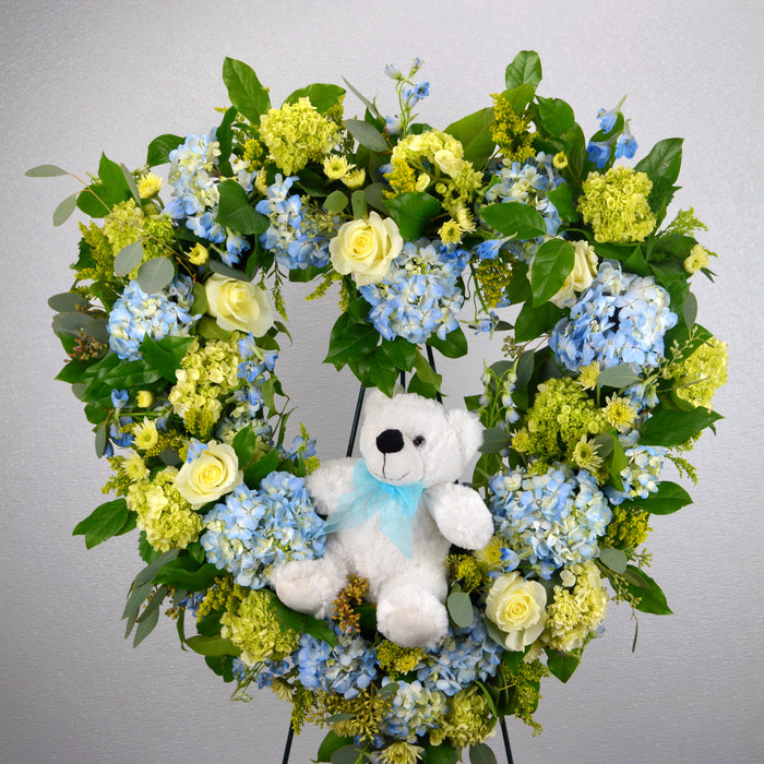 Rest In Peace Heart Wreath