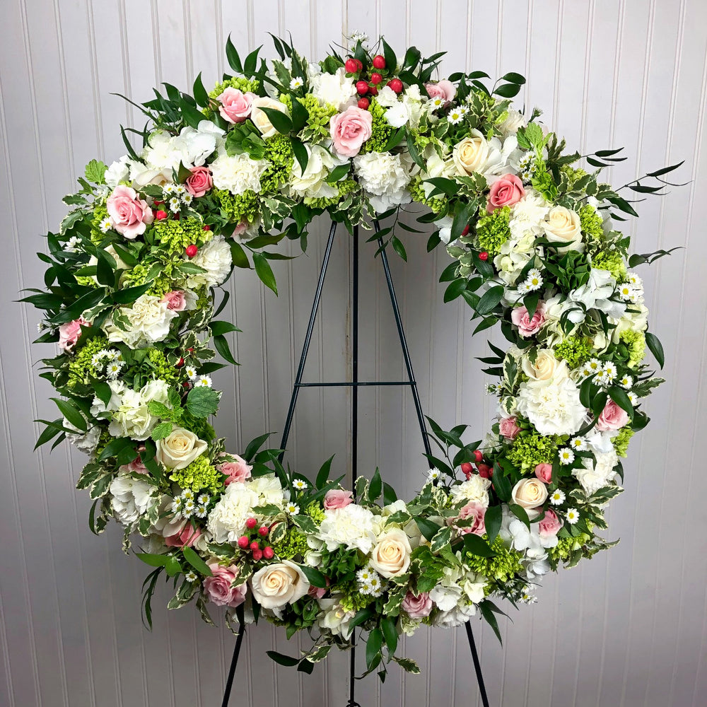 English Garden Tribute Wreath