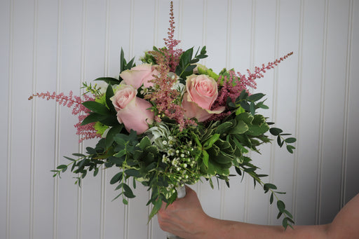 Blushing Bridal Bouquet in Pinks