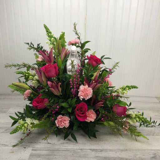 Blessed Mother Tribute Arrangement