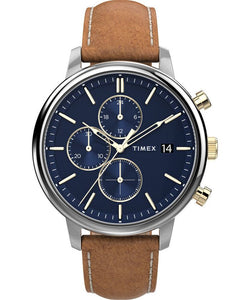 Chicago Chronograph 45mm Leather Strap Watch TW2U39000VQ - Gear Supply Company