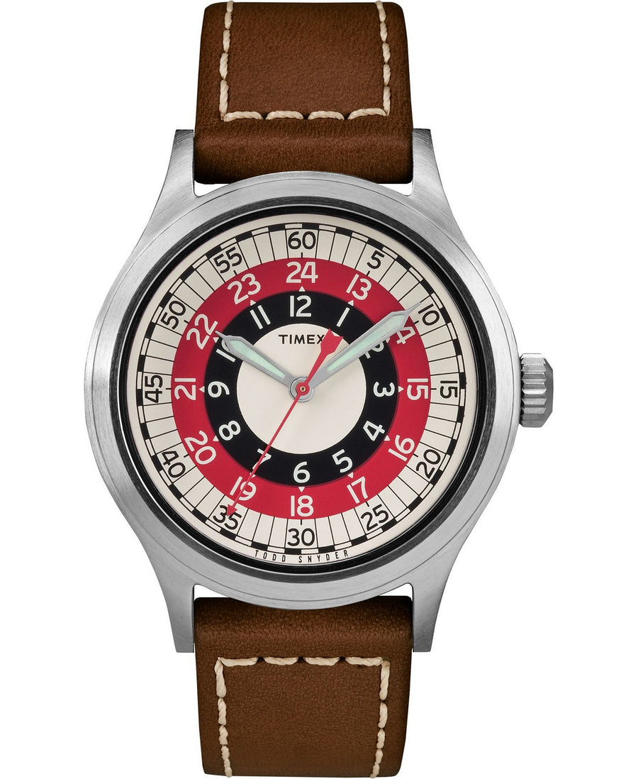 Timex X Todd Snyder Mod Inspired 40mm Leather Strap Watch - Gear Supply Company
