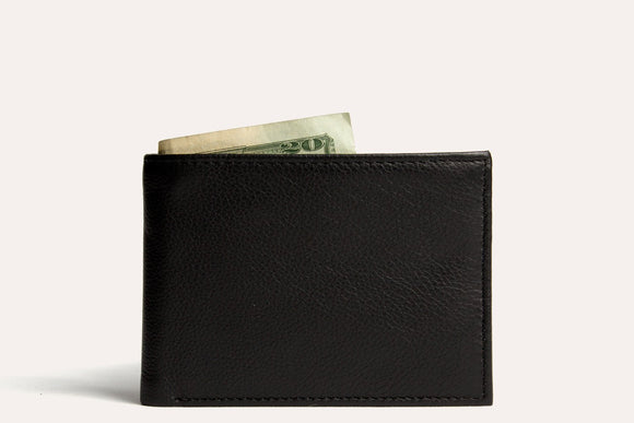 Traditional Bifold Wallet in Black - Gear Supply Company