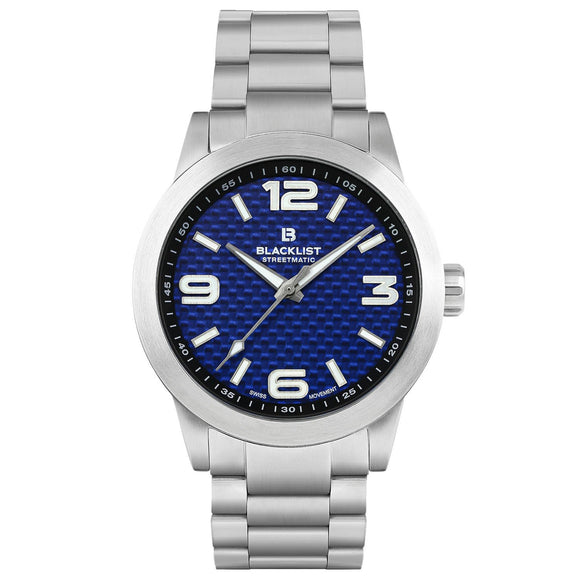 Blacklist Streetmatic Quartz Blue Carbon - Steel - Gear Supply Company