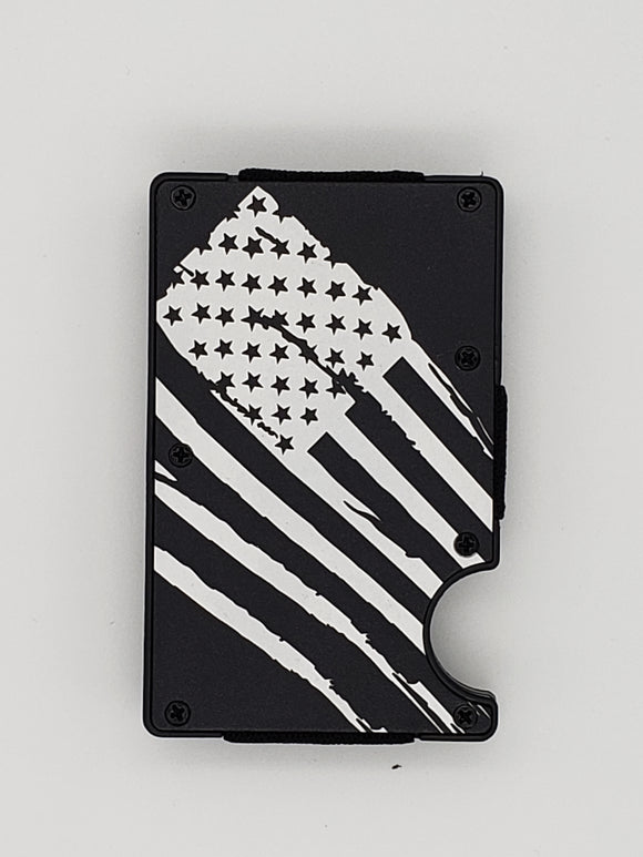 Gear Supply Exclusive Wallet Battle Worn Flag Engraving - Gear Supply Company
