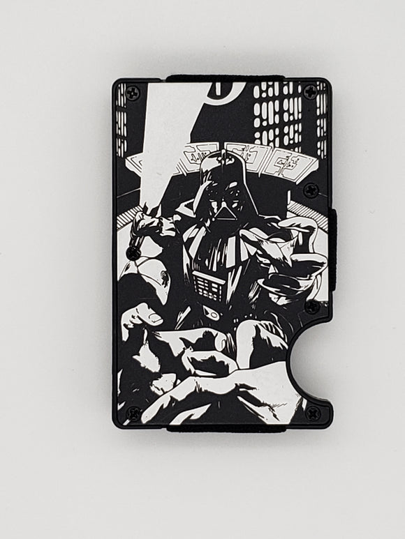 Gear Supply Exclusive Wallet First person view Darth Vader choke hold Engraving - Gear Supply Company