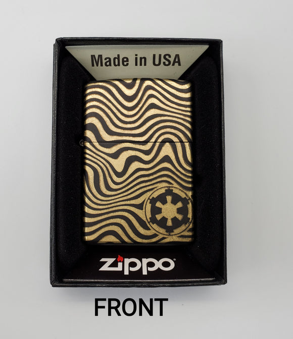 GSC Customer engraved Zippo - Beskar Steel with Black back - Gear Supply Company