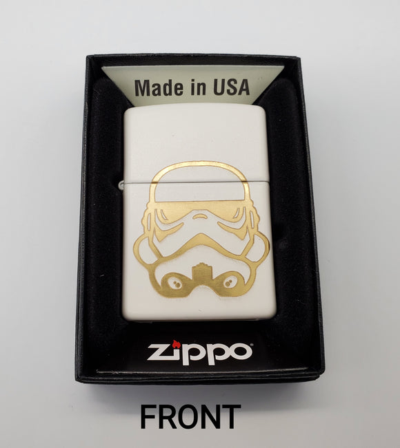 GSC Customer engraved Zippo - Storm Trooper - Gear Supply Company