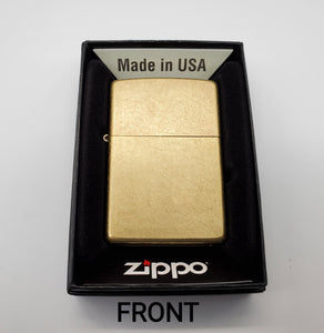 GSC Customer engraved Zippo - Beskar Steel with Brass front - Gear Supply Company